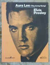 ELVIS PRESLEY - Aura Lee (The Army Song) Sheet Music 1977
