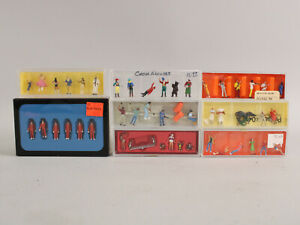 Lot Preiser HO 1/87 Scale Figures All Circus Workers Performers Patrons Monkeys+