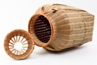Japanese Woven Bamboo Craft UNAGI BIKU Basket Eel Catcher Cage #22927