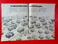 "1973 Volkswagen Beetle Bugs Everywhere Original Print Ad 8.5 x 11"" 2 Page"