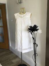 LADIES  JAEGER WHITE LINEN SUMMER DRESS SIZE 12