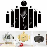 3d Digital Mirror Wall Clock Modern Design Home Decor Watch Sticker Home Decor