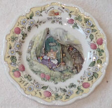 �Rare Htf Royal Doulton Brambly Hedge The Plan China Plate Collector Item Mint�