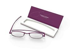 IF Compact Flat Folding Reading Glasses - Orchid Purple - +1.0 in Slim Case