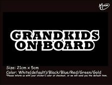 *GRANDKIDS ON BOARD Reflective Warning Car Truck  Stickers Decal Best Gift