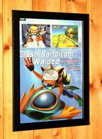 Crash Bandicoot 3 Warped PS1 PSX Vintage Small Poster / Ad Art Framed Retro