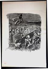 Steinlen. Au Mur des Fédérés. Lithographie originale. 1894. Chambard Socialiste