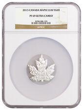 2015 Canada $20 1 Troy Oz Proof Silver Maple Leaf Shape NGC PF69 UC SKU37313