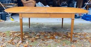 BAKER NEOCLASSICAL DINING TABLE Needs minor refinishing, missing extension leaf