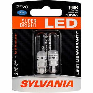 Sylvania Zevo 194 Blue T10 LED Bright Interior Exterior Mini Light Bulb, 2 Pack