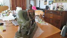 1 alte Skulptur Mann mit Stier