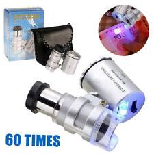 60x Handheld Jewellers Magnifying Glass with LED Light Mini Pocket Loupe New AU