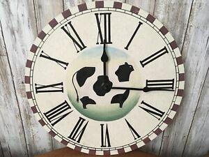 Primitive ~ COW~ Farmhouse Decor Wall Clock NEW!