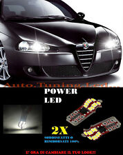 LUCI POSIZIONE ALFA ROMEO 147 05-11 CANBUS T10 BIANCO 20 LED SUPER QUALITA