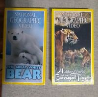 National Geographic Videos VHS Lot Of 2 (The Great White Bear And Hidden...