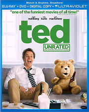 Ted Unrated Blu-ray Disc + DVD Movie Combo Pack Mark Wahlberg Seth MacFarlane