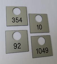 15 Kunststoff Wertfach Zahlenschilder Schloss Nummerierung m. Loch, Bohrung 24mm
