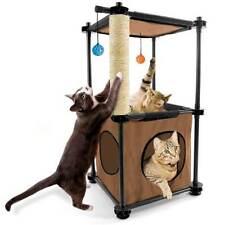 Cat Kitten Brown Tower Activity Centre Scratcher Scratching Climbing Post Tree