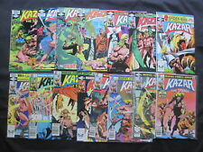 KA-ZAR : COMPLETE 34 ISSUE MARVEL 1981 SERIES by BRUCE JONES, ANDERSON etc