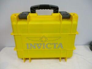 INVICTA YELLOW PLASTIC 8 SLOT WATCH DIVE CASE