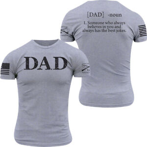 Grunt Style Dad Defined T-Shirt - Heather Gray