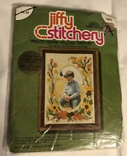 Jiffy Stitchery Photo Frame - Yellow Thistles  Crewel Embroidery Kit