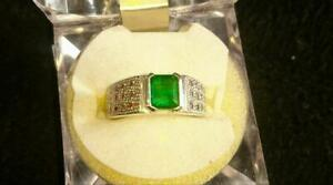 Untreated 2.2 Carats Panjsher Emerald Ring Handmade Panjsher Valley Emerald