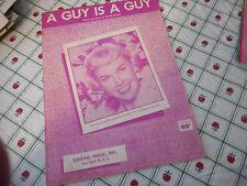 Doris Day A Guy Is A Guy 1952 Photo Sheet Music