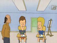 BEAVIS & BUTT-HEAD ORIGINAL 1990'S PRODUCTION CEL ANIMATION ART - ART CLASS