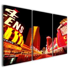 Quadri moderni città di notte Fremont street stampe su tela canvas ® quality
