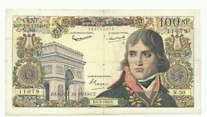 100 NOUVEAUX FRANCS BONAPARTE 04/02/1960