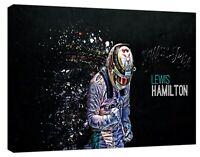 FORMULA 1 LEWIS HAMILTON STILL I RISE PHOTO PRINT ON FRAMED CANVAS WALL ART
