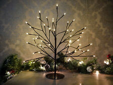 45cm LED Warm White Pre-Lit Christmas Twig Tree Mains Birch Xmas Decor Wedding