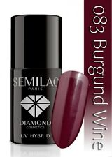 Semilac Hybrid Soak off Nail Polish Gel Allure Violet, Nude Colors 7ml