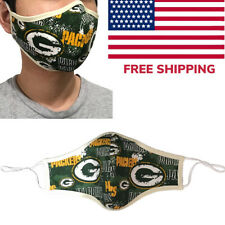 Green Bay Packers Football NFL Quality Fabric Face Mask Cotton Cloth USA