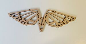 Wooden MDF Geometric Angel Wings craft Shapes x 8, 100mm Embellishments