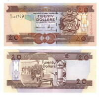 SOLOMON ISLANDS $20 Dollars (2006) P-28 C/4 Prefix UNC Banknotes Paper Money
