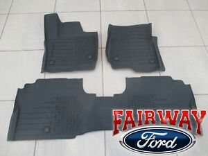 18 thru 21 Navigator OEM Lincoln Tray Style Molded Rubber Tray Floor Mat Set 4pc