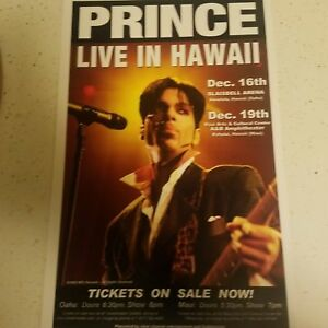 PRINCE  Live in Hawaii  concert poster  embedded with NFC chip with 60 photos