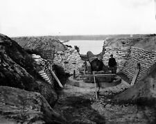 New 8x10 Civil War Photo: Confederate Gun at Trent's Reach on the James River
