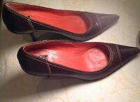 Coach Carla Elegant Brown Pumps Classic Heels Shoes Size 7B