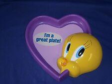 Vintage Looney Tunes Tweety Bird Figural Kid's Plate by Applause 8½x9½in 1998