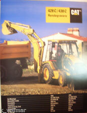 ✪altes original Prospekt sales Brochure CAT Caterpillar 428C/438C Rendegravere