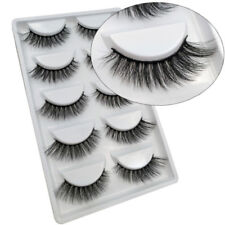 5 Pairs 100% Real Beauty Mink Fake Eyelashes 3D Natural False Lashes Makeup H6