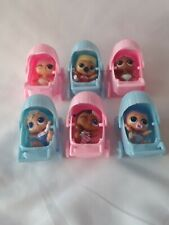 LOL Surprise Lil Sis Accessory 3 Pink & 3 Blue Strollers Lot (no dolls included)