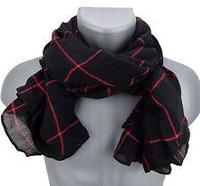 écharpe pour hommes noir rouge rayures par Ella Jonte fashion écharpe viscose