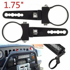 2x 1.75 inch Bull Roll Bar Mount Bracket Clamp for Off Road HID LED Light Bar