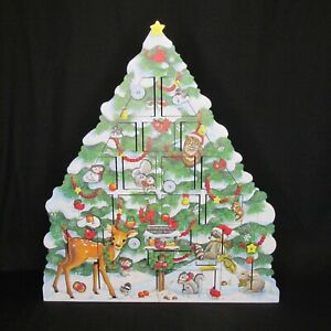 2005 Byers Choice Wooden Advent Calendar Christmas Snow Tree DoorsTraditions