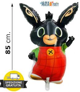 Palloncino BING coniglio bunny compleanno sagoma foil mylar DECORAZIONE 85 cm