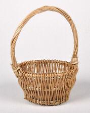 Cane Basket Wicker Mini Round Basket 15cm X 6cm Florist Arrangement
